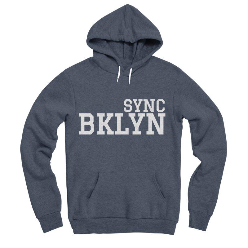 SYNC BKLYN in White Women's Sponge Fleece Pullover Hoody by SYNCSTUDIO Sweat Supplies
