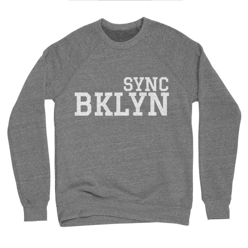 SYNC BKLYN in White Women's Sponge Fleece Sweatshirt by SYNCSTUDIO Sweat Supplies