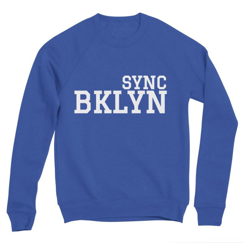 SYNC BKLYN in White Men's Sponge Fleece Sweatshirt by SYNCSTUDIO Sweat Supplies