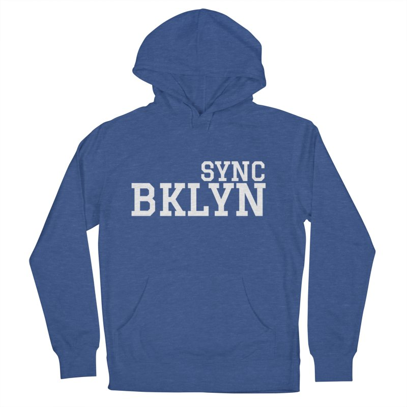 SYNC BKLYN in White Women's French Terry Pullover Hoody by SYNCSTUDIO Sweat Supplies