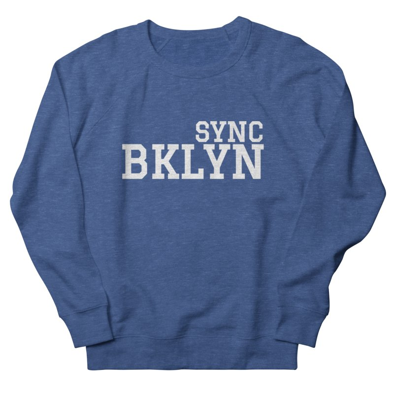 SYNC BKLYN in White Women's French Terry Sweatshirt by SYNCSTUDIO Sweat Supplies