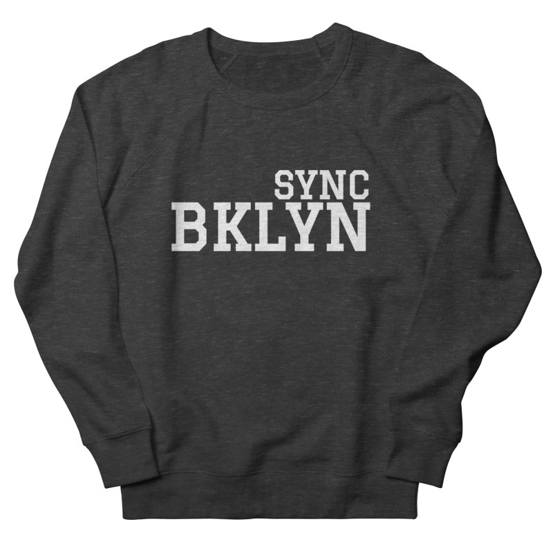 SYNC BKLYN in White Men's French Terry Sweatshirt by SYNCSTUDIO Sweat Supplies