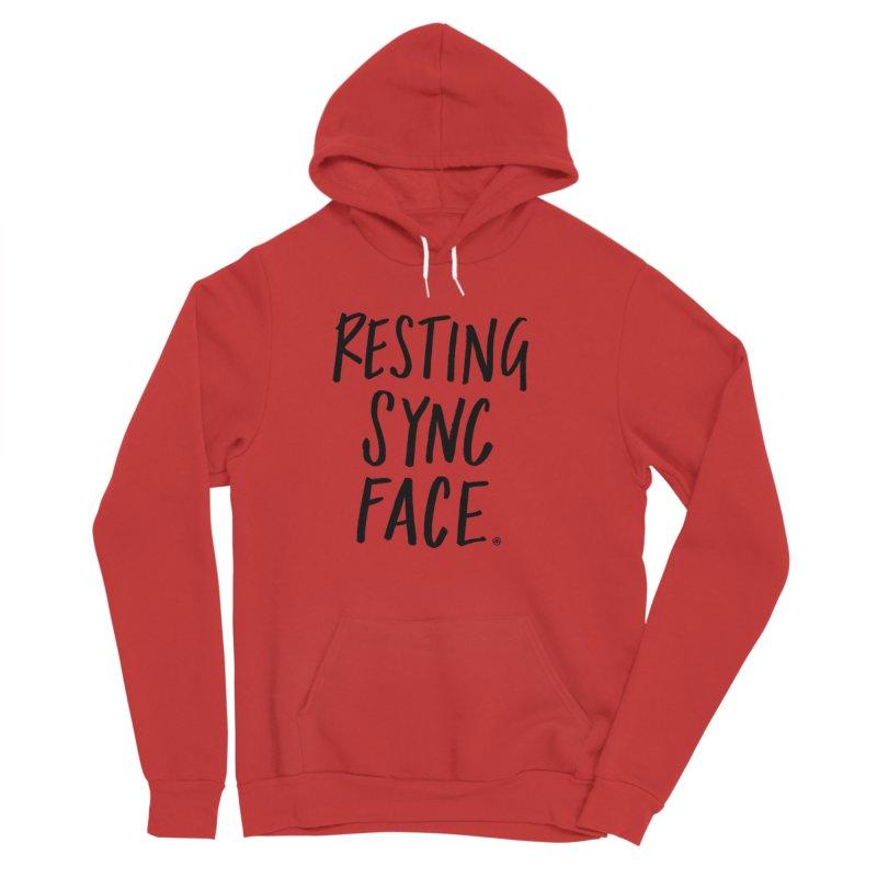 RESTING SYNC FACE Women's Sponge Fleece Pullover Hoody by SYNCSTUDIO Sweat Supplies