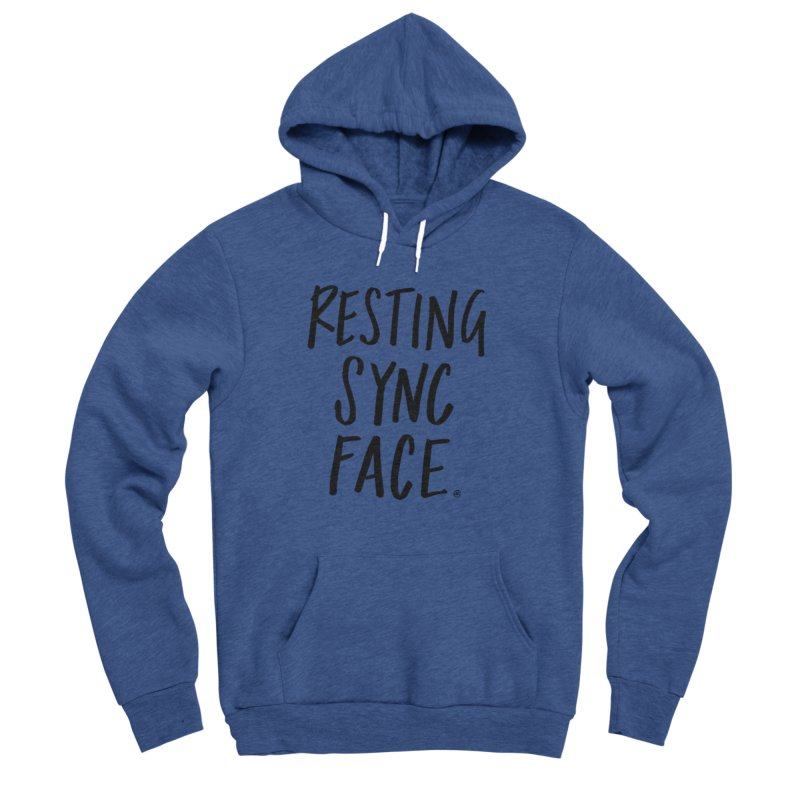 RESTING SYNC FACE Women's Sponge Fleece Pullover Hoody by SYNCSTUDIO Sweat Supplies