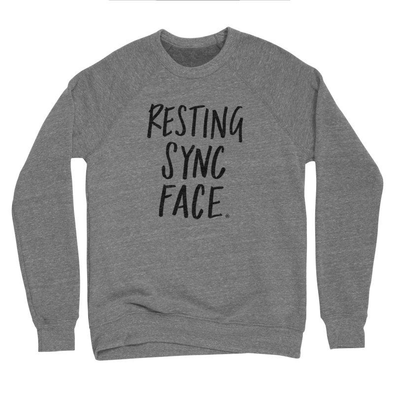 RESTING SYNC FACE Women's Sponge Fleece Sweatshirt by SYNCSTUDIO Sweat Supplies