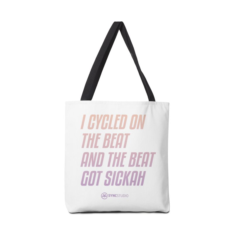 CYCLE ON THE BEAT Accessories Tote Bag Bag by SYNCSTUDIO Sweat Supplies