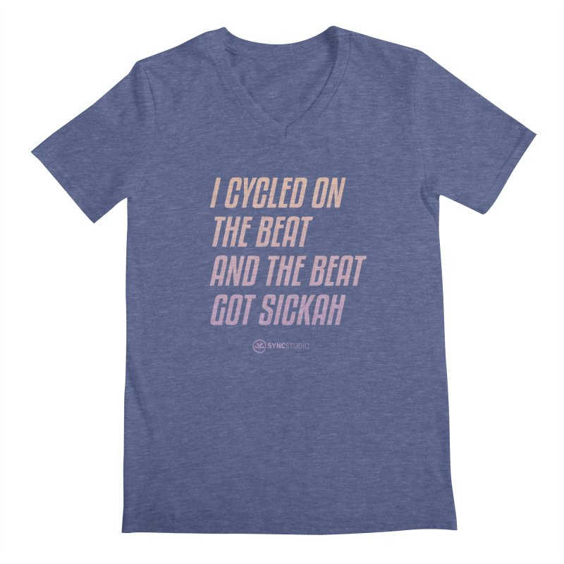 CYCLE ON THE BEAT Men's Regular V-Neck by SYNCSTUDIO Sweat Supplies
