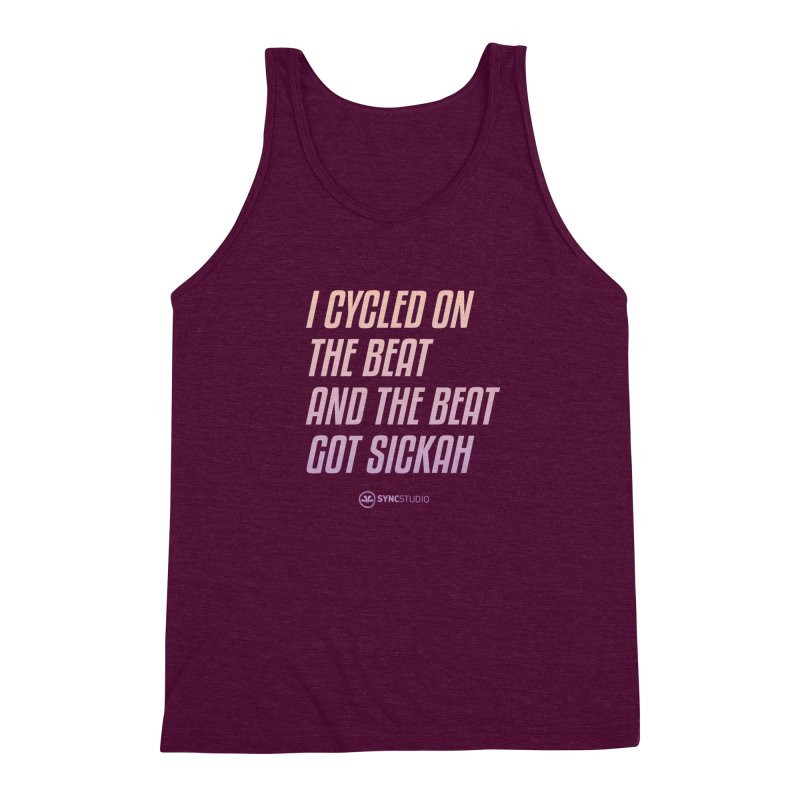 CYCLE ON THE BEAT Men's Triblend Tank by SYNCSTUDIO Sweat Supplies