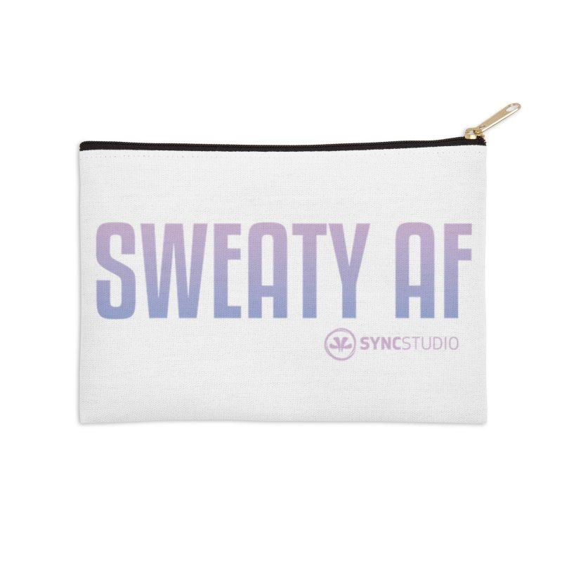 SWEATY AF Accessories Zip Pouch by SYNCSTUDIO Sweat Supplies