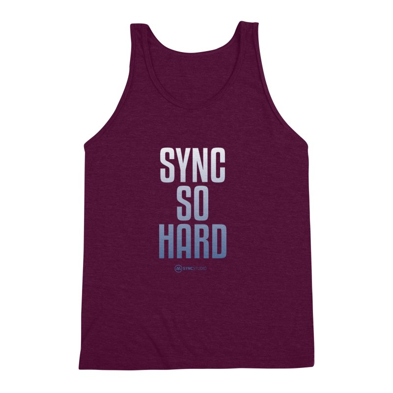 SYNC SO HARD Men's Triblend Tank by SYNCSTUDIO Sweat Supplies