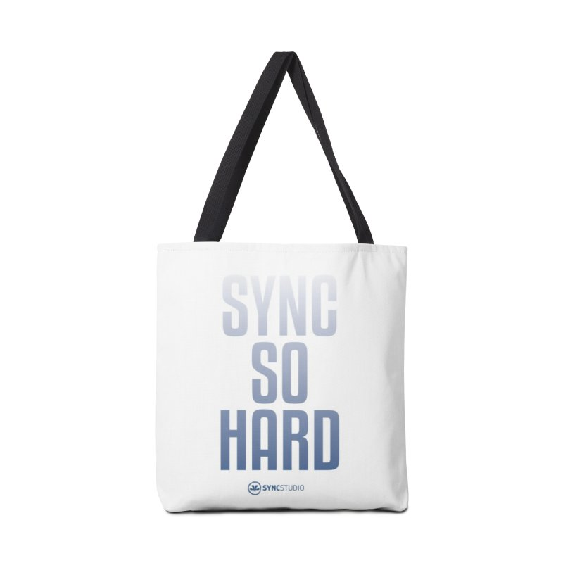 SYNC SO HARD Accessories Tote Bag Bag by SYNCSTUDIO Sweat Supplies