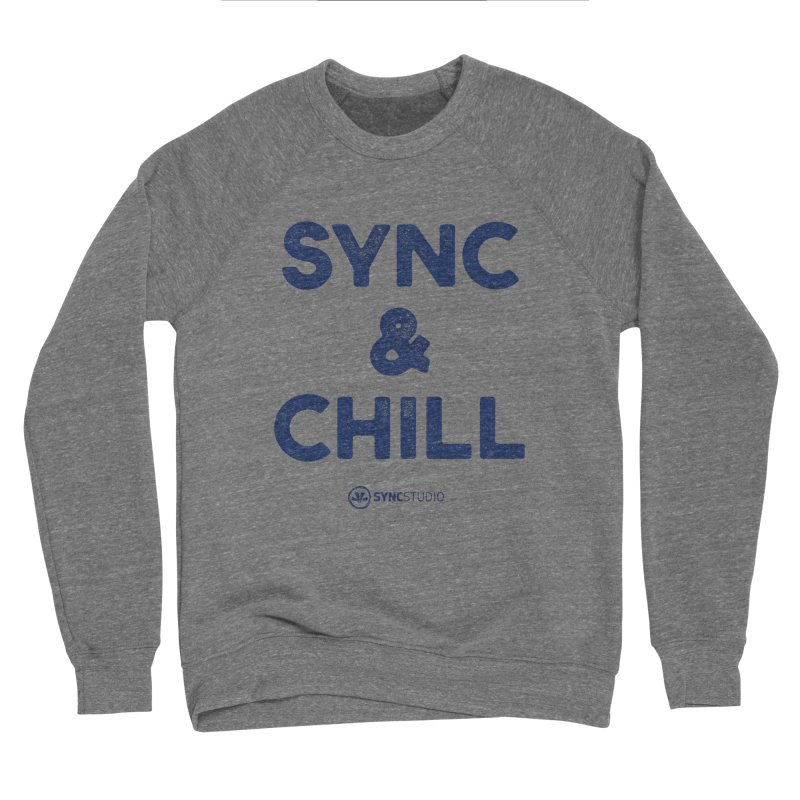 SYNC + CHILL Navy Women's Sponge Fleece Sweatshirt by SYNCSTUDIO Sweat Supplies