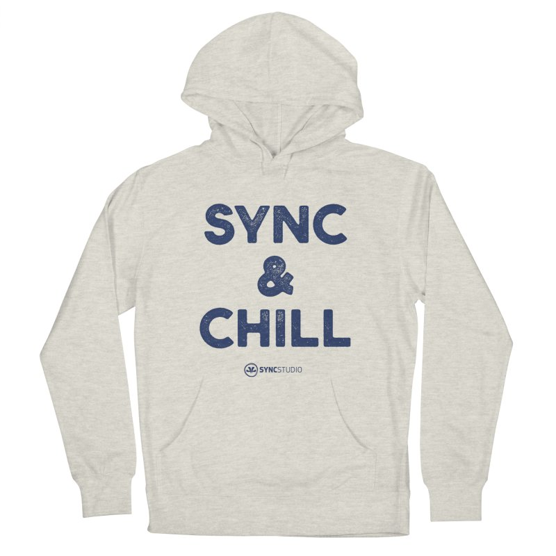SYNC + CHILL Navy Women's French Terry Pullover Hoody by SYNCSTUDIO Sweat Supplies