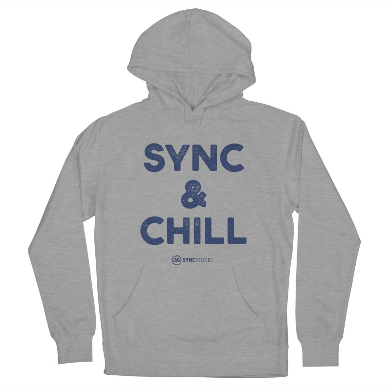 SYNC + CHILL Navy Men's French Terry Pullover Hoody by SYNCSTUDIO Sweat Supplies
