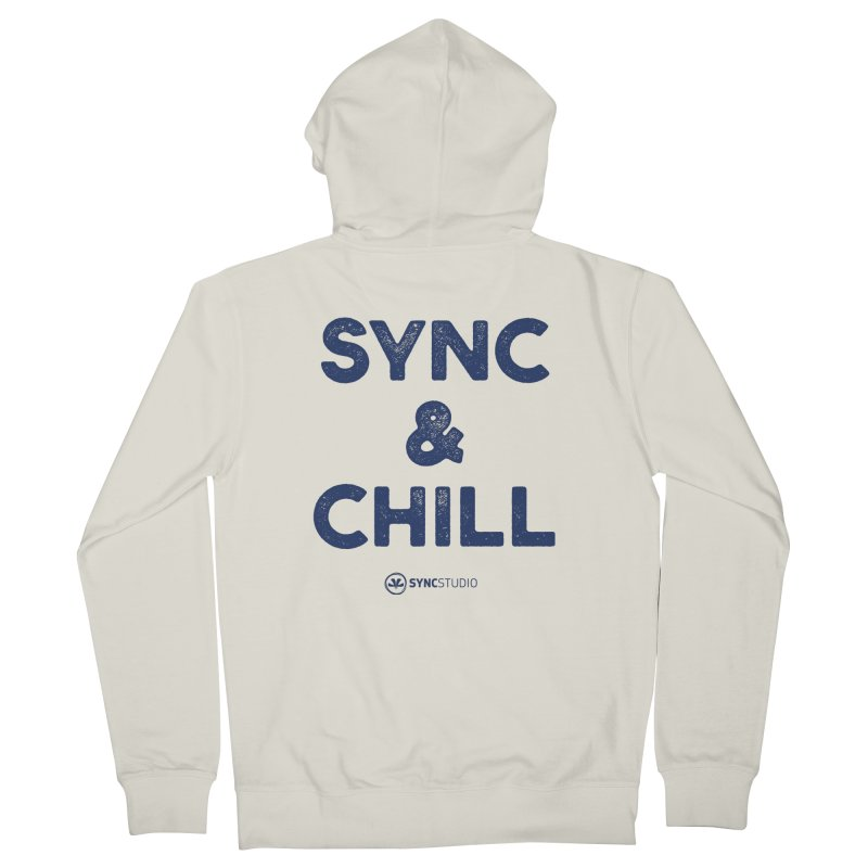 SYNC + CHILL Navy Women's French Terry Zip-Up Hoody by SYNCSTUDIO Sweat Supplies