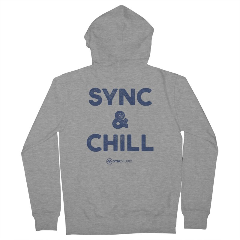 SYNC + CHILL Navy Men's French Terry Zip-Up Hoody by SYNCSTUDIO Sweat Supplies