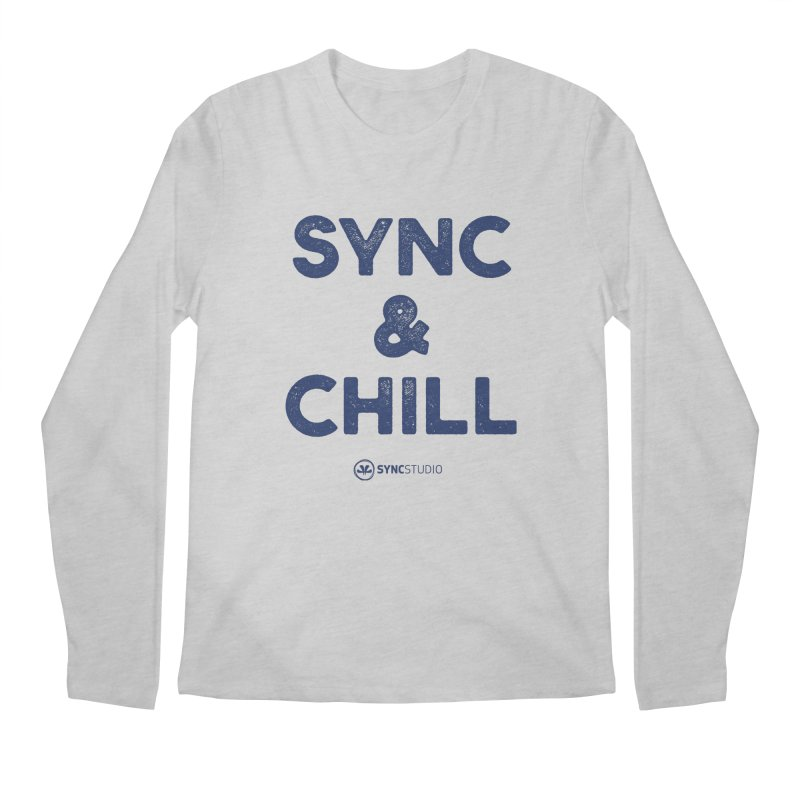SYNC + CHILL Navy Men's Regular Longsleeve T-Shirt by SYNCSTUDIO Sweat Supplies