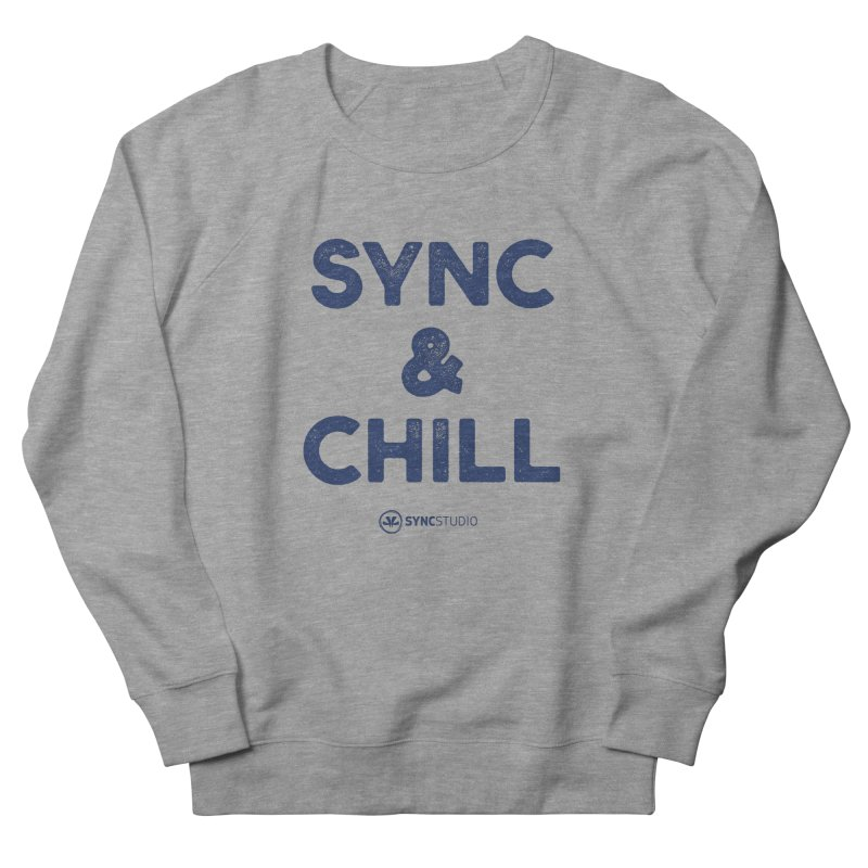 SYNC + CHILL Navy Women's French Terry Sweatshirt by SYNCSTUDIO Sweat Supplies
