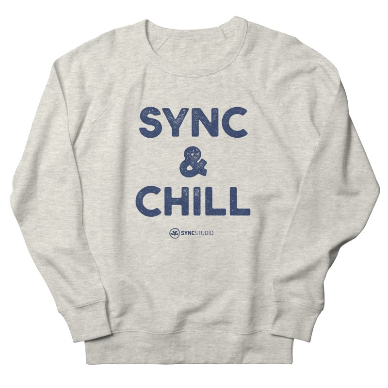 SYNC + CHILL Navy Men's French Terry Sweatshirt by SYNCSTUDIO Sweat Supplies