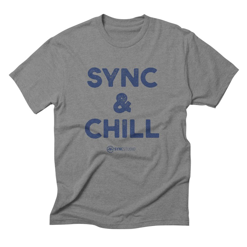 SYNC + CHILL Navy Men's Triblend T-Shirt by SYNCSTUDIO Sweat Supplies