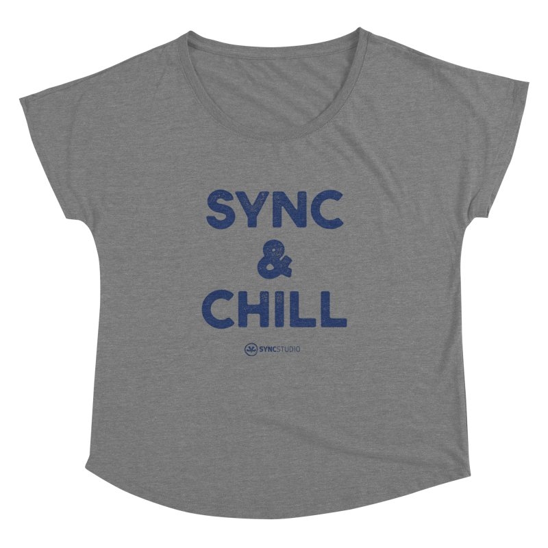 SYNC + CHILL Navy Women's Dolman Scoop Neck by SYNCSTUDIO Sweat Supplies
