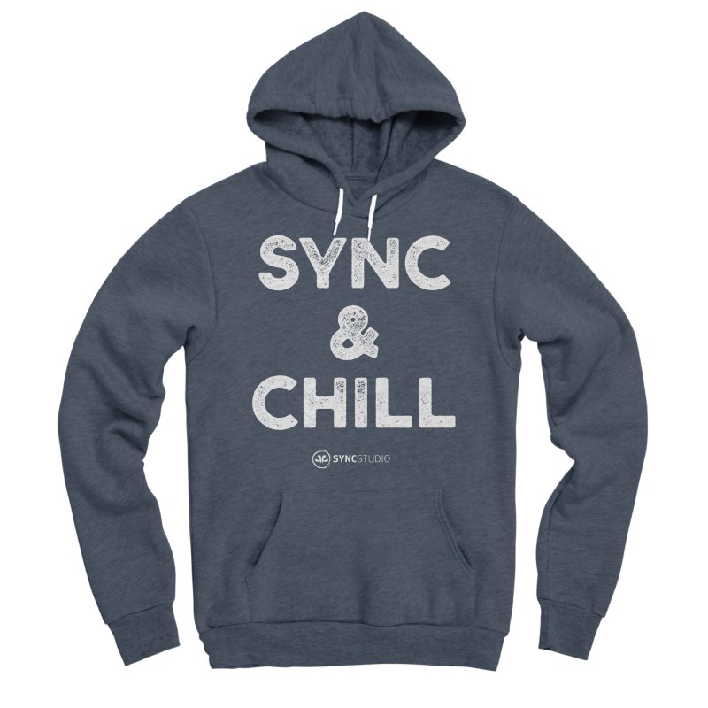 SYNC + Chill White Women's Sponge Fleece Pullover Hoody by SYNCSTUDIO Sweat Supplies