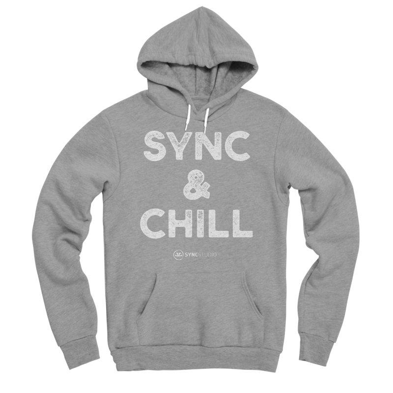 SYNC + Chill White Women's Sponge Fleece Pullover Hoody by SYNCSTUDIO Sweat Supplies