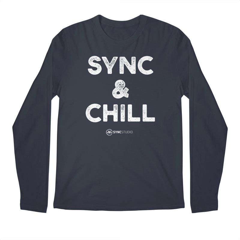 SYNC + Chill White Men's Regular Longsleeve T-Shirt by SYNCSTUDIO Sweat Supplies