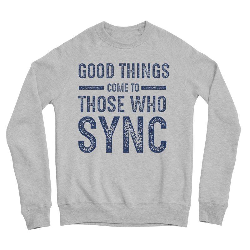 Good Things Navy Men's Sponge Fleece Sweatshirt by SYNCSTUDIO Sweat Supplies
