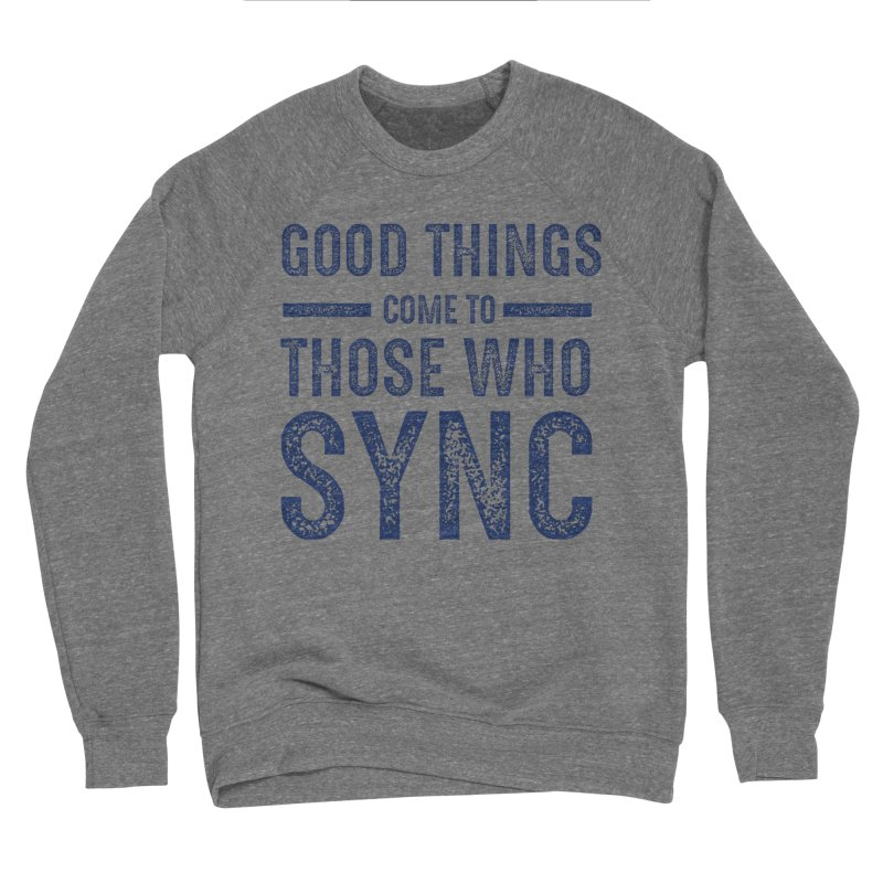 Good Things Navy Women's Sponge Fleece Sweatshirt by SYNCSTUDIO Sweat Supplies