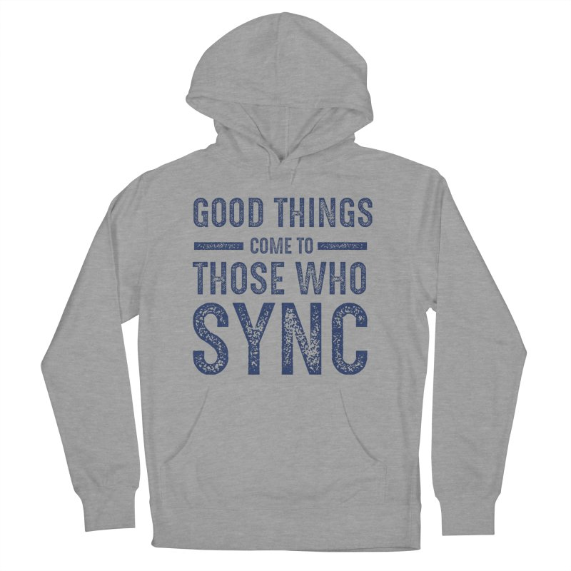 Good Things Navy Women's French Terry Pullover Hoody by SYNCSTUDIO Sweat Supplies