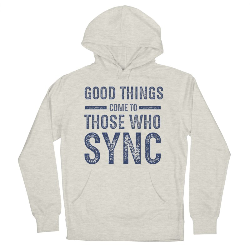 Good Things Navy Men's French Terry Pullover Hoody by SYNCSTUDIO Sweat Supplies