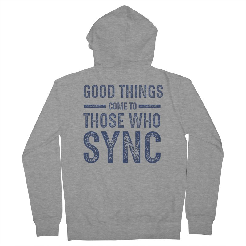 Good Things Navy Women's French Terry Zip-Up Hoody by SYNCSTUDIO Sweat Supplies
