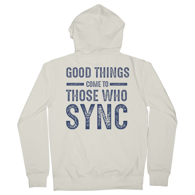 Good Things Navy Men's French Terry Zip-Up Hoody by SYNCSTUDIO Sweat Supplies