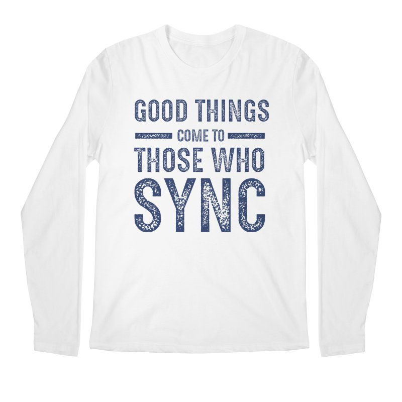 Good Things Navy Men's Regular Longsleeve T-Shirt by SYNCSTUDIO Sweat Supplies