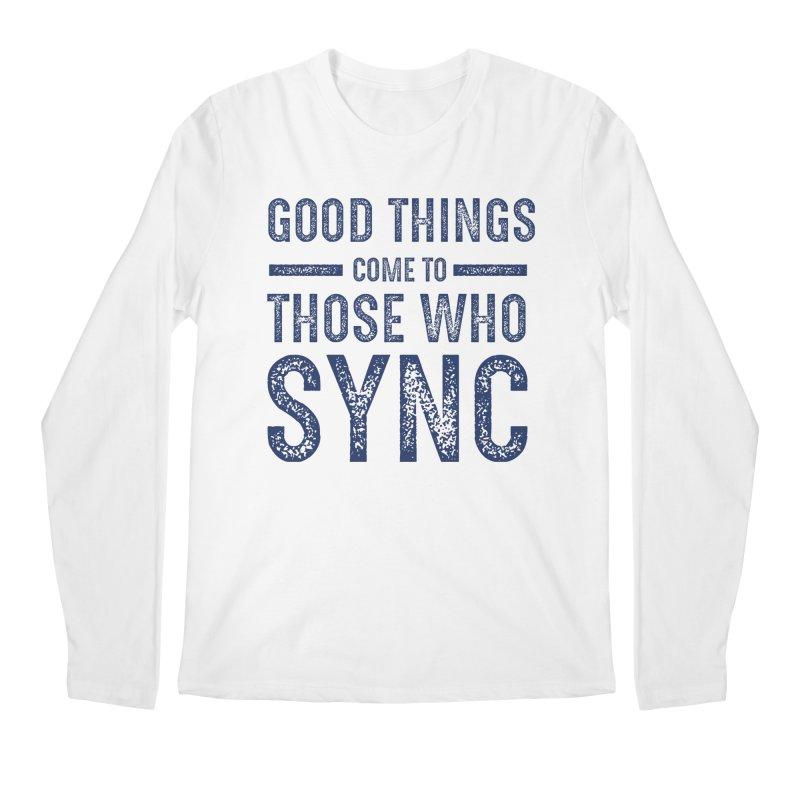 Good Things Navy Men's Regular Longsleeve T-Shirt by SYNCSTUDIO Sweat Supplies