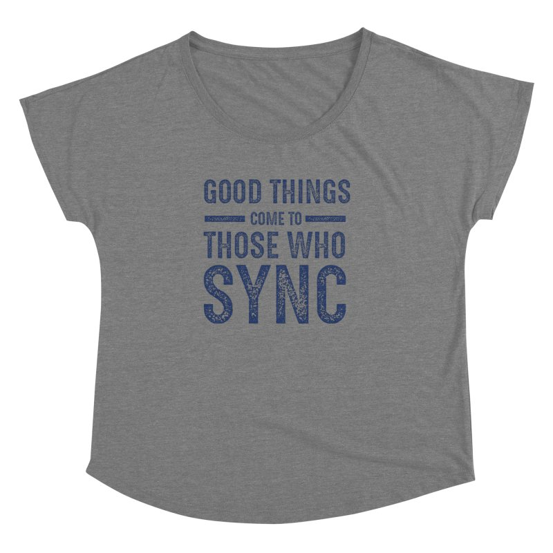 Good Things Navy Women's Dolman Scoop Neck by SYNCSTUDIO Sweat Supplies