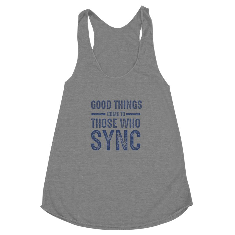 Good Things Navy Women's Racerback Triblend Tank by SYNCSTUDIO Sweat Supplies