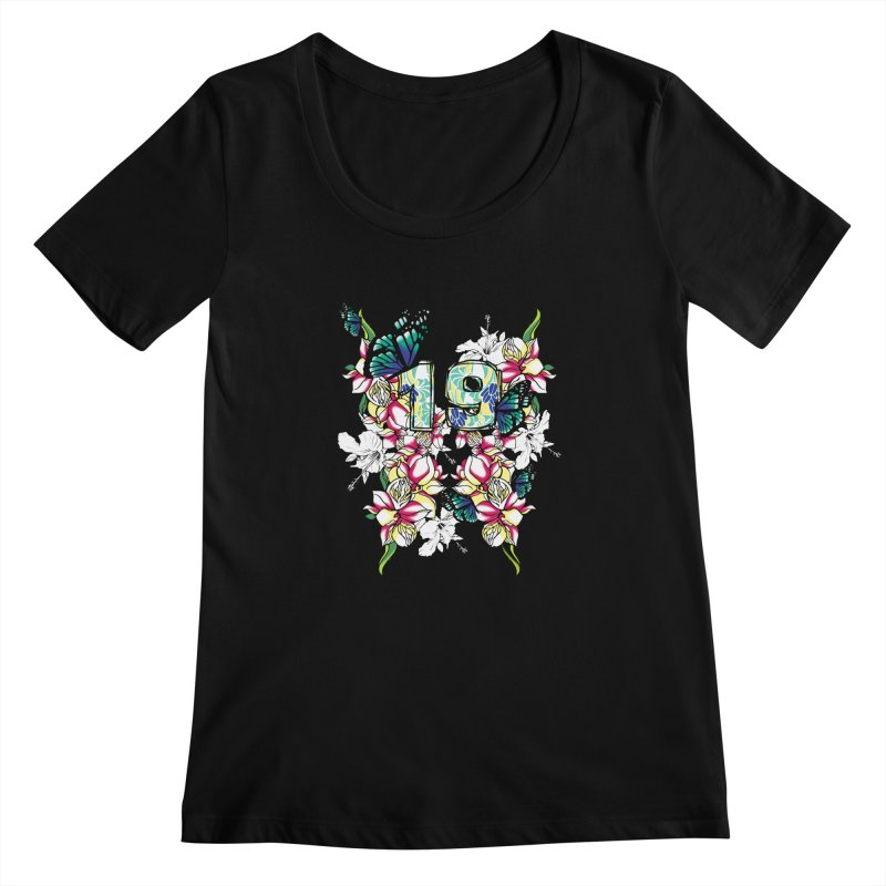 Tropical Butterflies Women's Scoopneck by syria82's Artist Shop