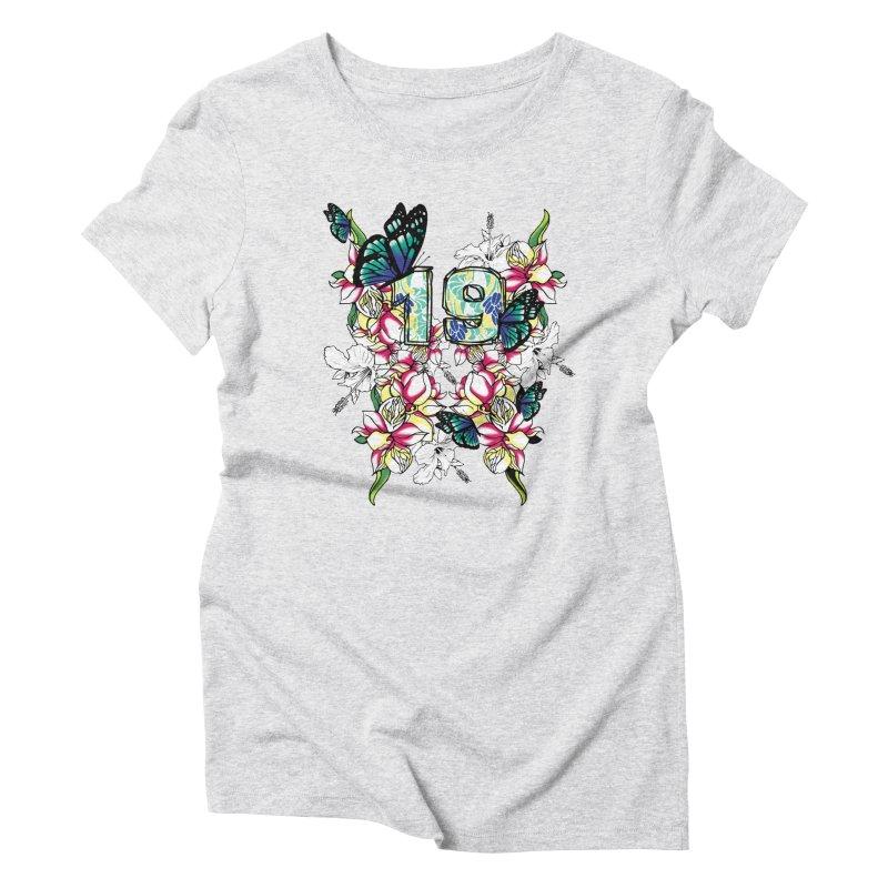 Tropical Butterflies Women's Triblend T-shirt by syria82's Artist Shop
