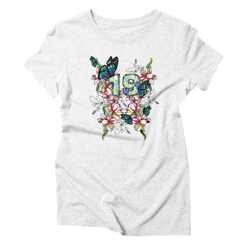 Tropical Butterflies Women's Triblend T-shirt by syria82's Artist Shop