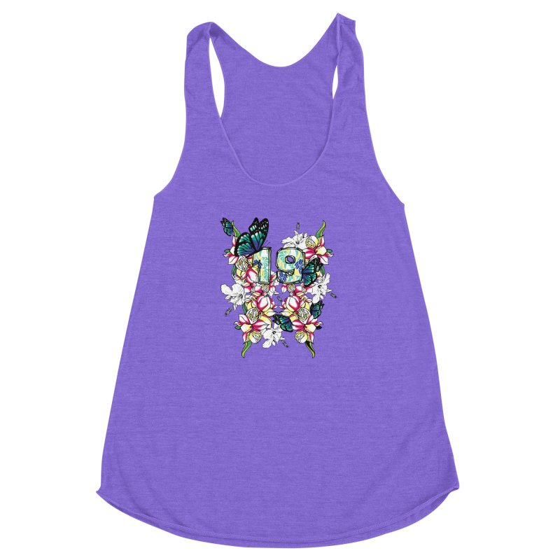 Tropical Butterflies Women's Racerback Triblend Tank by syria82's Artist Shop