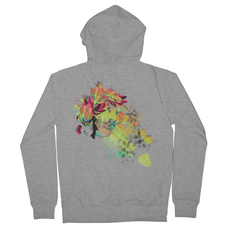 the plumed girl Women's Zip-Up Hoody by syria82's Artist Shop