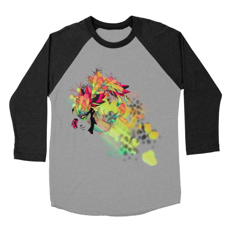 the plumed girl Women's Baseball Triblend T-Shirt by syria82's Artist Shop