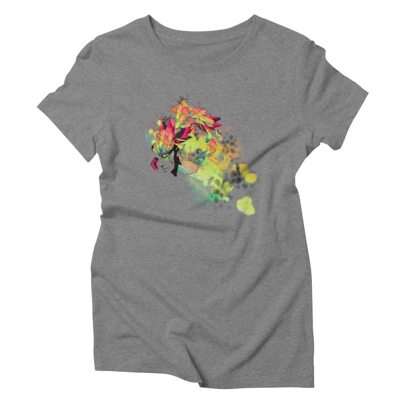 the plumed girl Women's Triblend T-shirt by syria82's Artist Shop