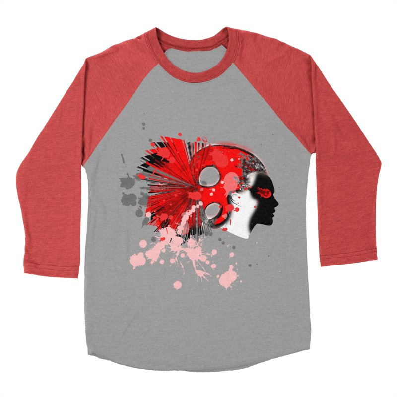 Crazy Hair Women's Baseball Triblend T-Shirt by syria82's Artist Shop