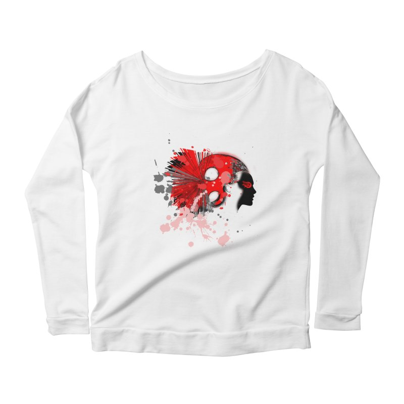 Crazy Hair Women's Longsleeve Scoopneck  by syria82's Artist Shop