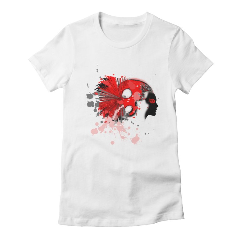 Crazy Hair Women's Fitted T-Shirt by syria82's Artist Shop