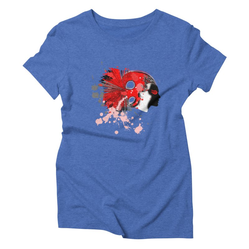 Crazy Hair Women's Triblend T-Shirt by syria82's Artist Shop