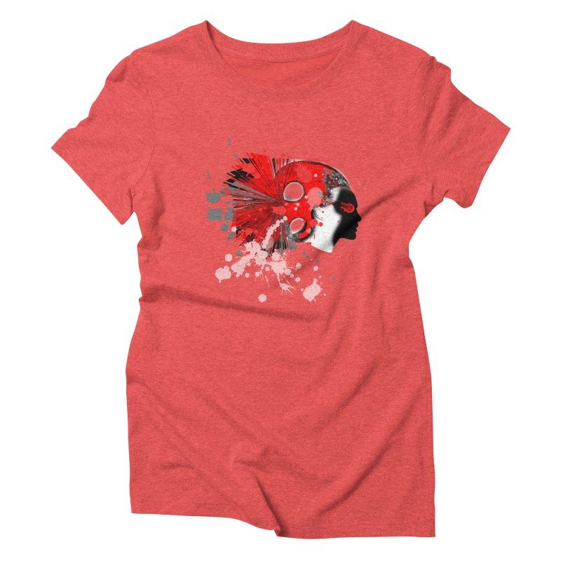 Crazy Hair Women's Triblend T-Shirt by syria82's Artist Shop